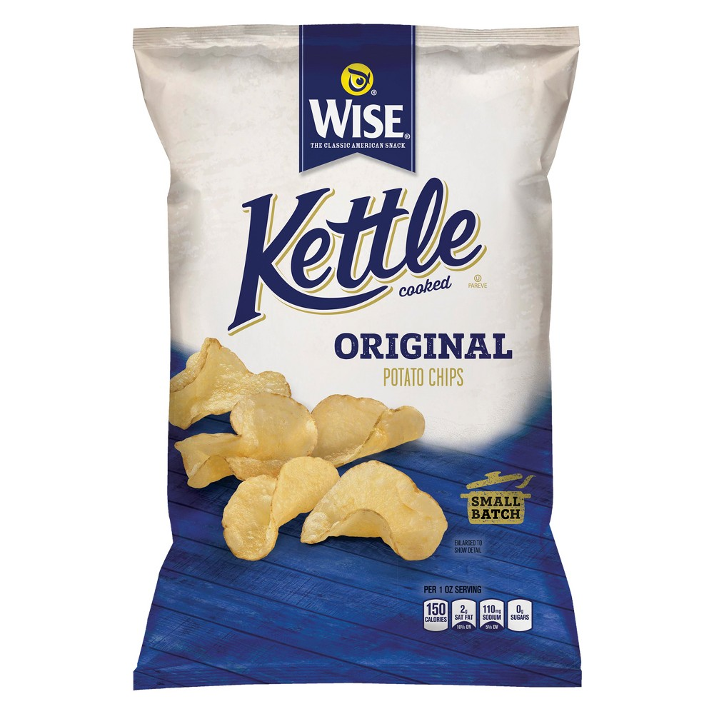 Wise Kettle Cooked Original Potato Chips - 8oz
