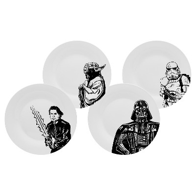 Star Wars® Dinner Plate Ceramic 10.5  Set of 4 - Zak Designs