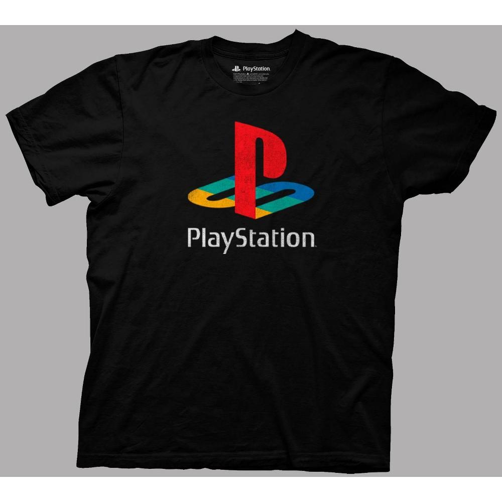 Men 39 S Playstation Short Sleeve Graphic T Shirt Black L