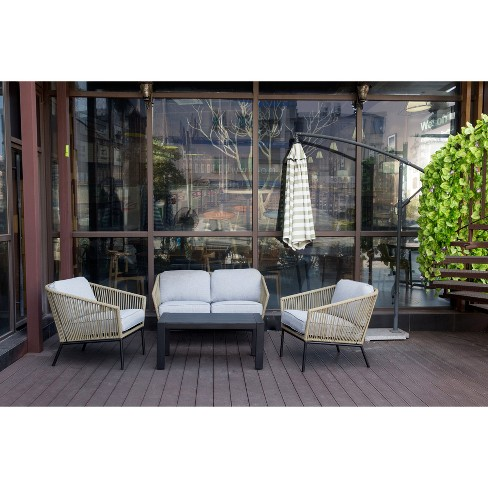 Standish 4pc Strap Patio Conversation Set - Project 62™ - image 1 of 18