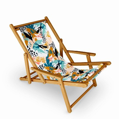 Marta Barragan Camarasa Botanical Brushstrokes Sling Chair - Deny Designs