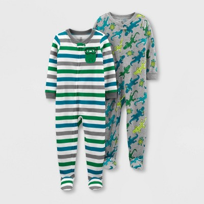 Toddler Boys' 2pk Footed Alligator Pajama Jumpsuit - Just One You® made by carter's Green