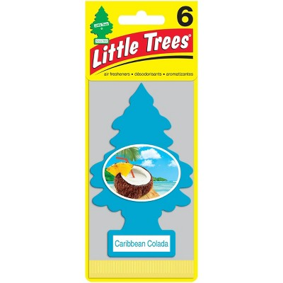 Little Trees 6pk Caribbean Colada Air Freshener