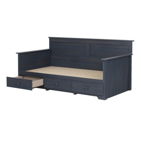 Summer Breeze Daybed With Storage Twin Blueberry - South Shore - image 1 of 7