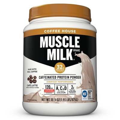Protein & Meal Replacement: Muscle Milk Caffeinated Protein Powder