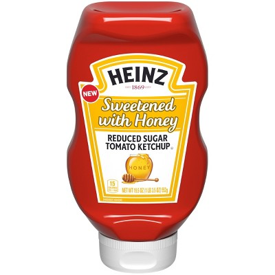 Heinz Sweetened with Honey Reduced Sugar Ketchup - 19.5oz