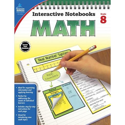 Carson Dellosa Math Interactive Notebook, Grade 8 - image 1 of 1