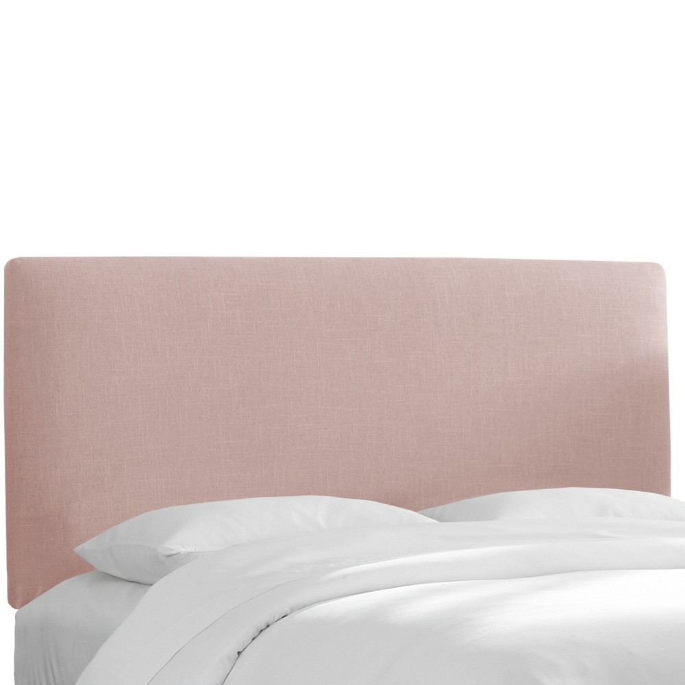 California King Olivia Upholstered Headboard Blush Linen - Cloth & Co.