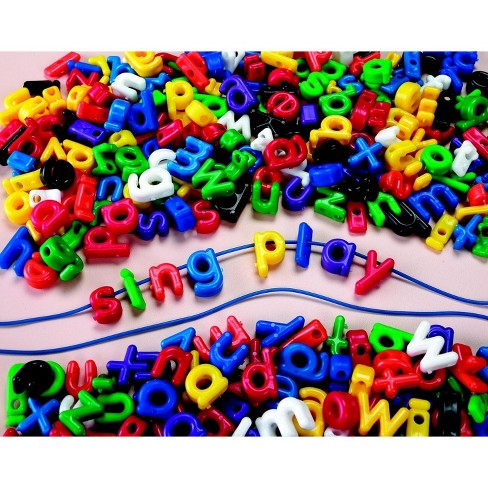 Roylco Lowercase Letter Bead, Assorted Colors, set of 288 - image 1 of 3