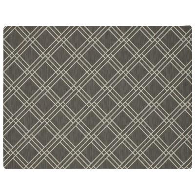 3'X4' Geometric Doormats Gray - Mohawk