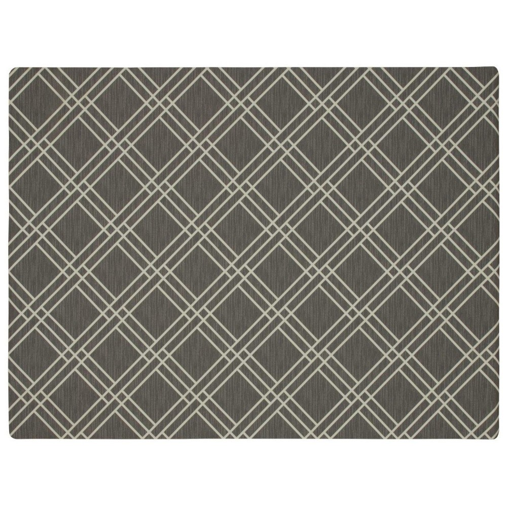 Image of 3'X4' Geometric Doormats Gray - Mohawk