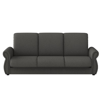 Berganza Flared Rolled Arm Convert-a-Couch - Handy Living