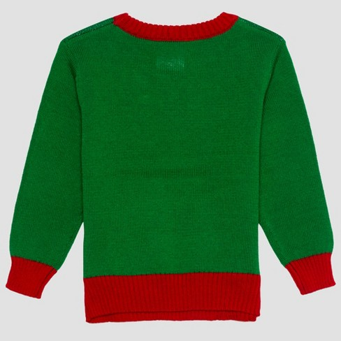 Toddler Boys Dr Seuss Grinch Ugly Holiday Sweater Green Target