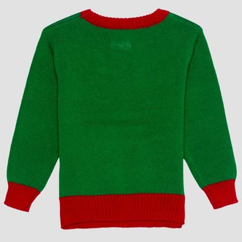 8ef64af7e38a Toddler Boys' Dr. Seuss Grinch Ugly Holiday Sweater - Green 3T : Target