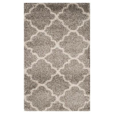 Hudson Shag Rug - Gray/Ivory - (4'X6')- Safavieh®