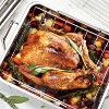 "Tramontina Gourmet Prima Roasting Pan with Basting Grill and V-Rack (16.5"") - image 4 of 4"