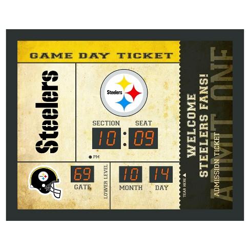 ac2e877d NFL Team Sports America Bluetooth Ticket Stub Scoreboard Wall Clock