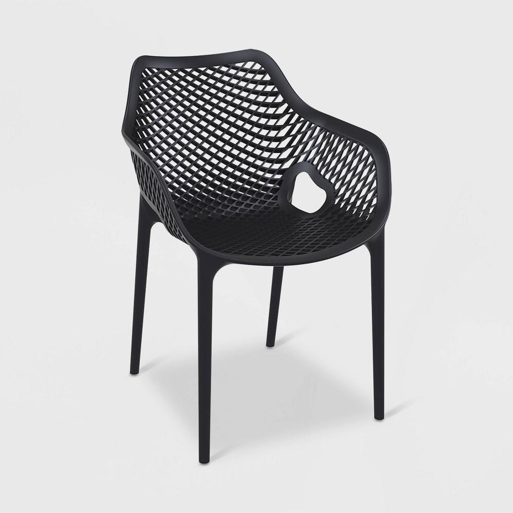 Image of Grid Xl 4pk Patio Armchair - Black - RESOL