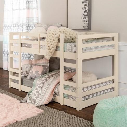 Twin Low Wood Bunk Bed Saracina Home Target