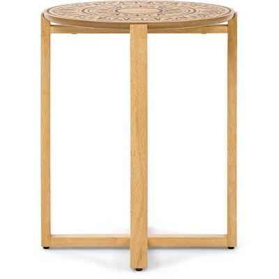 Dahlia Side Table Natural - Adore Decor