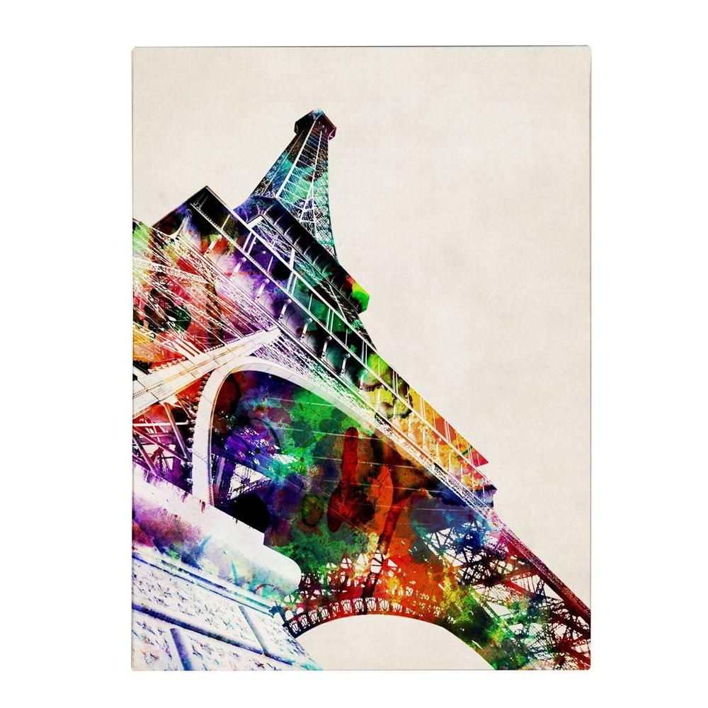 24 34 X 32 34 Eiffel Tower By Michael Tompsett Trademark Fine Art