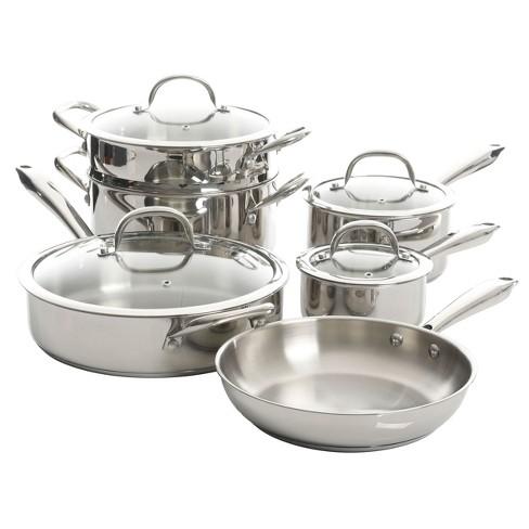 Kenmore Elite Devon 10 Piece Heavy Gauge Stainless Steel Cookware Set - image 1 of 4
