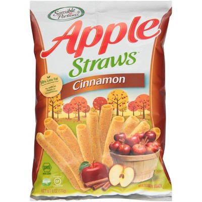 Sensible Portions Apple Cinnamon Straws - 6oz