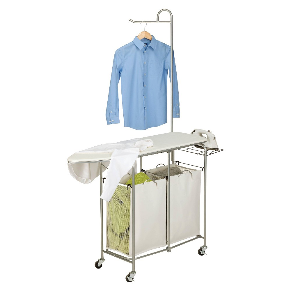 Honey-Can-Do Foldable Ironing Laundry Center and Valet, Natural