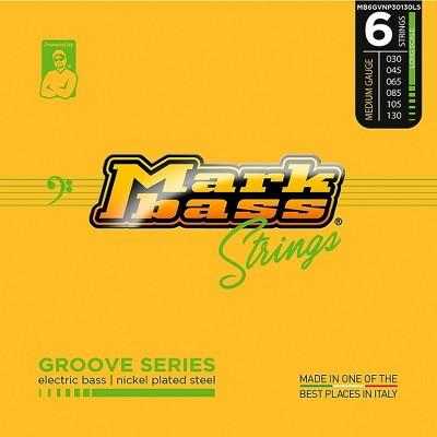 Markbass Markbass Groove Series Electric Bass Nickel Plated Steel Strings (30 - 130) Medium Gauge