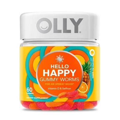 OLLY Hello Happy Gummy Supplements - 60ct