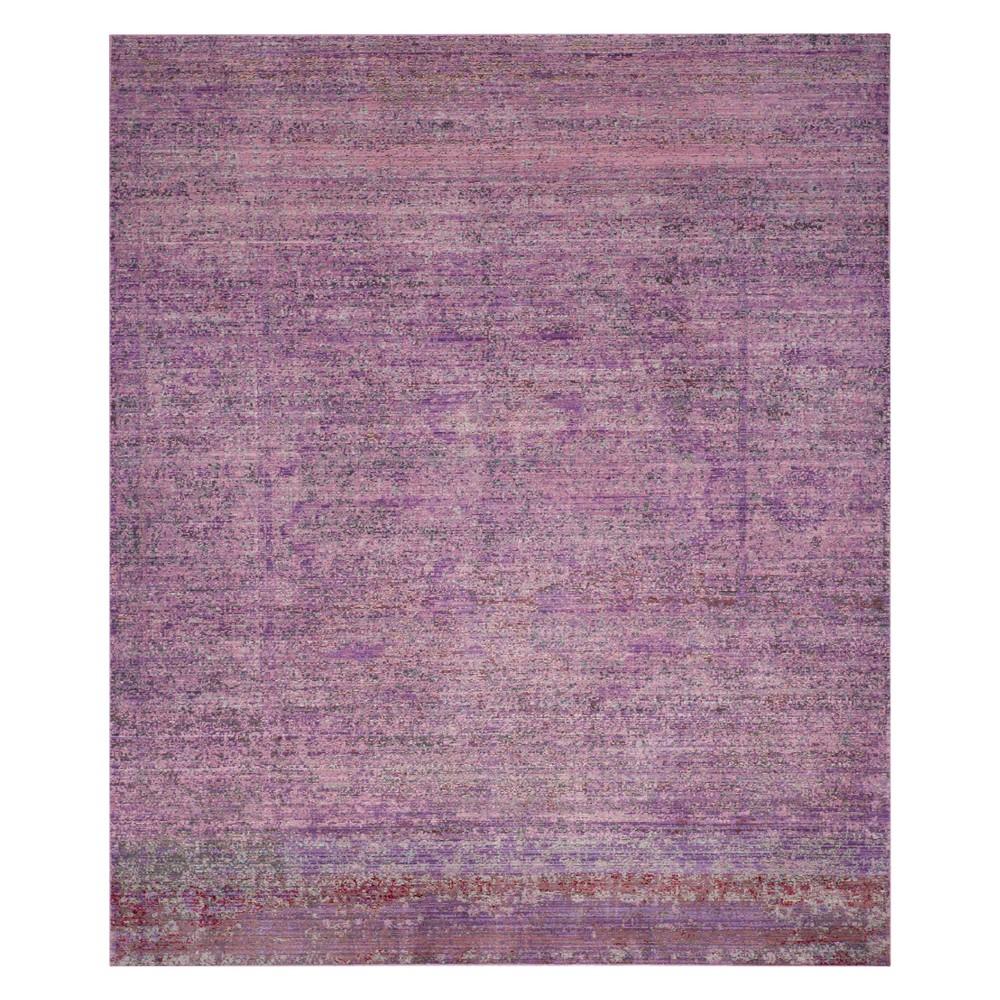 Solid Loomed Area Rug Lavender
