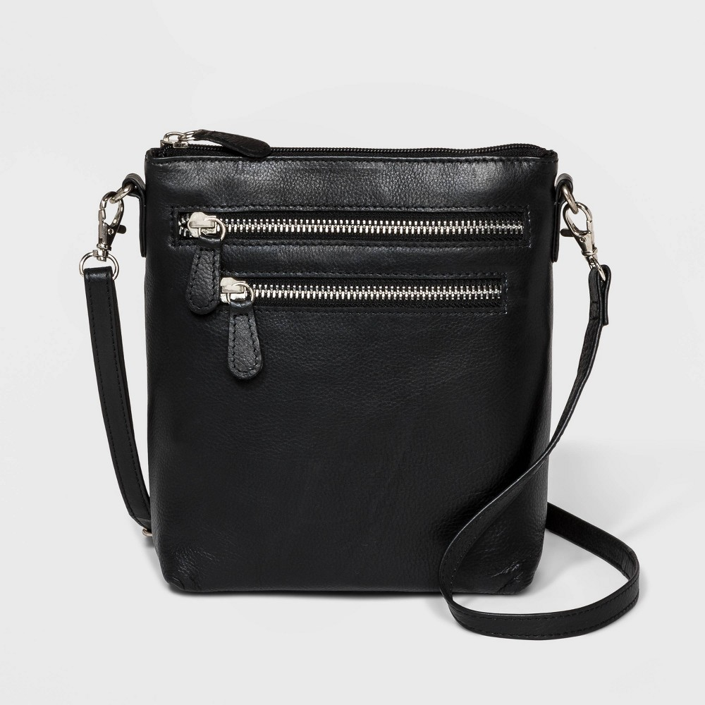 Image of Great American Leather Crossbody Bag - Black, Women's