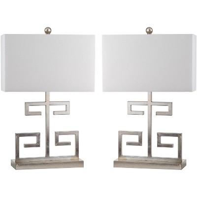 Greek Key Table Lamp (Set of 2)  - Safavieh