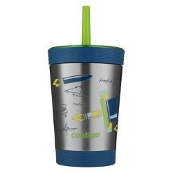 Contigo 12oz Stainless Steel Spill-Proof Kids Water Bottle Blue