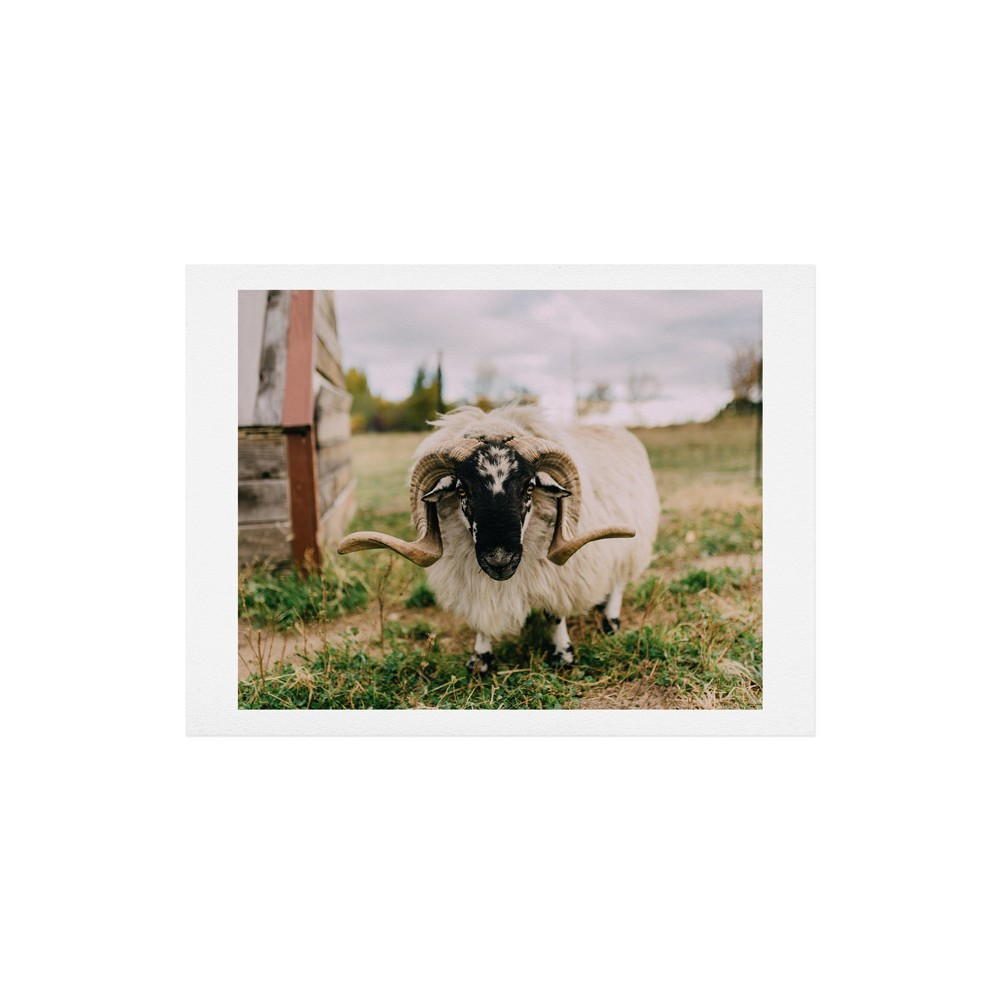 "Image of ""16""""x20"""" Chelsea Victoria The Curious Sheep Art Print Unframed Wall Poster Green - Deny Designs"""