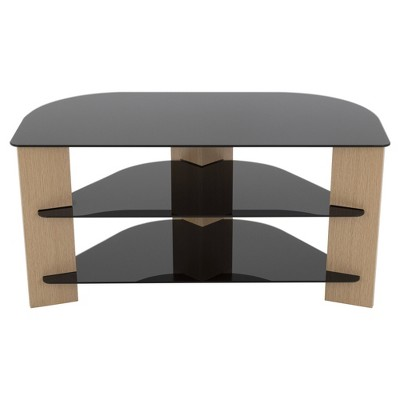 """42"""" TV Stand with Glass Shelves - AVF"""