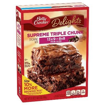 Betty Crocker Supreme Triple Chunk Brownie Mix - 21oz