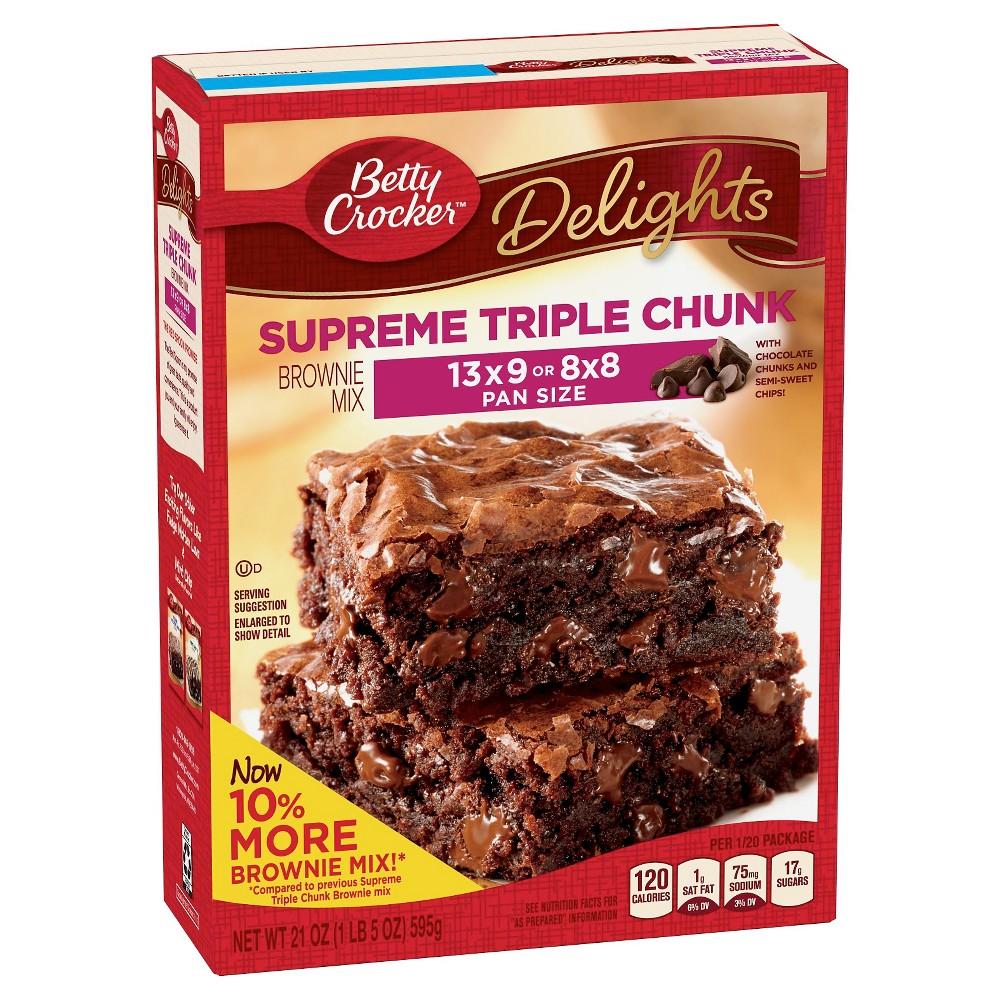 Betty Crocker Supreme Triple Chunk Brownie Mix - 17.8oz