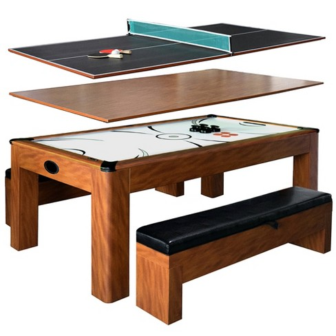 Hathaway Sherwood 7 Feet Air Hockey Table W Benches
