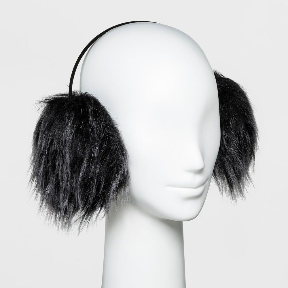 Women's Faux Fur Earmuff - Wild Fable Black