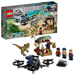 LEGO Jurassic World Dilophosaurus on the Loose 75934 Plane Drone Toy Dinosaur Building Set 168pc