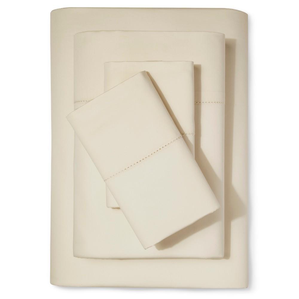 Supima Classic Hemstitch Sheet Set (Queen) Sea Salt (Blue) 700 Thread Count - Fieldcrest