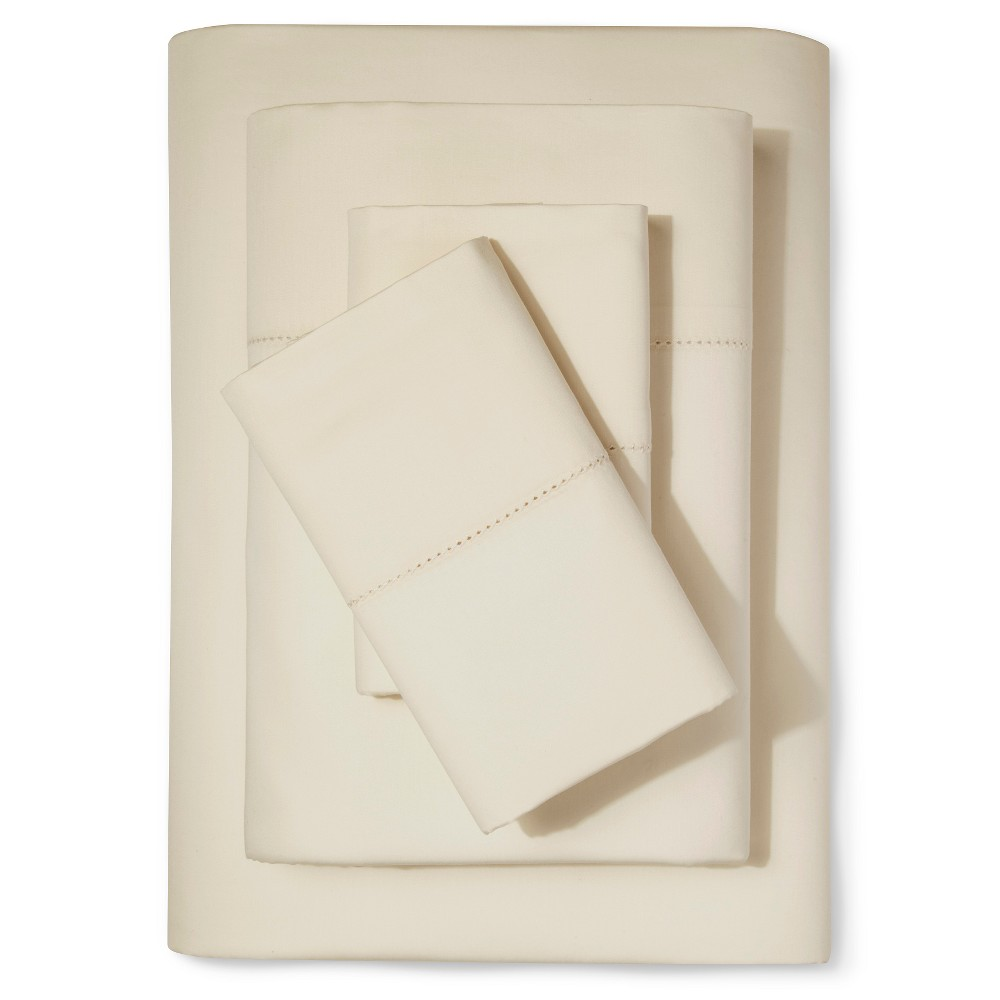 Supima Classic Hemstitch Sheet Set (Full) Sea Salt (Blue)...