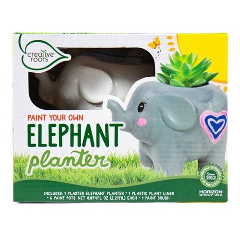 Creative Roots Paint Your Own Elephant Planter Target
