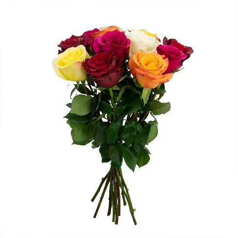 Colour Republic Rainbow Rose + Gypsophila Bouquet - image 1 of 4