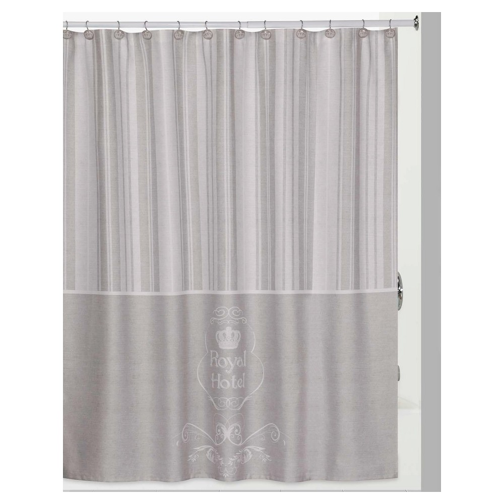 Image of Royal Hotel 13 Piece - Shower Curtain & Hook 12pc Set Taupe - Creative Bath, Brown