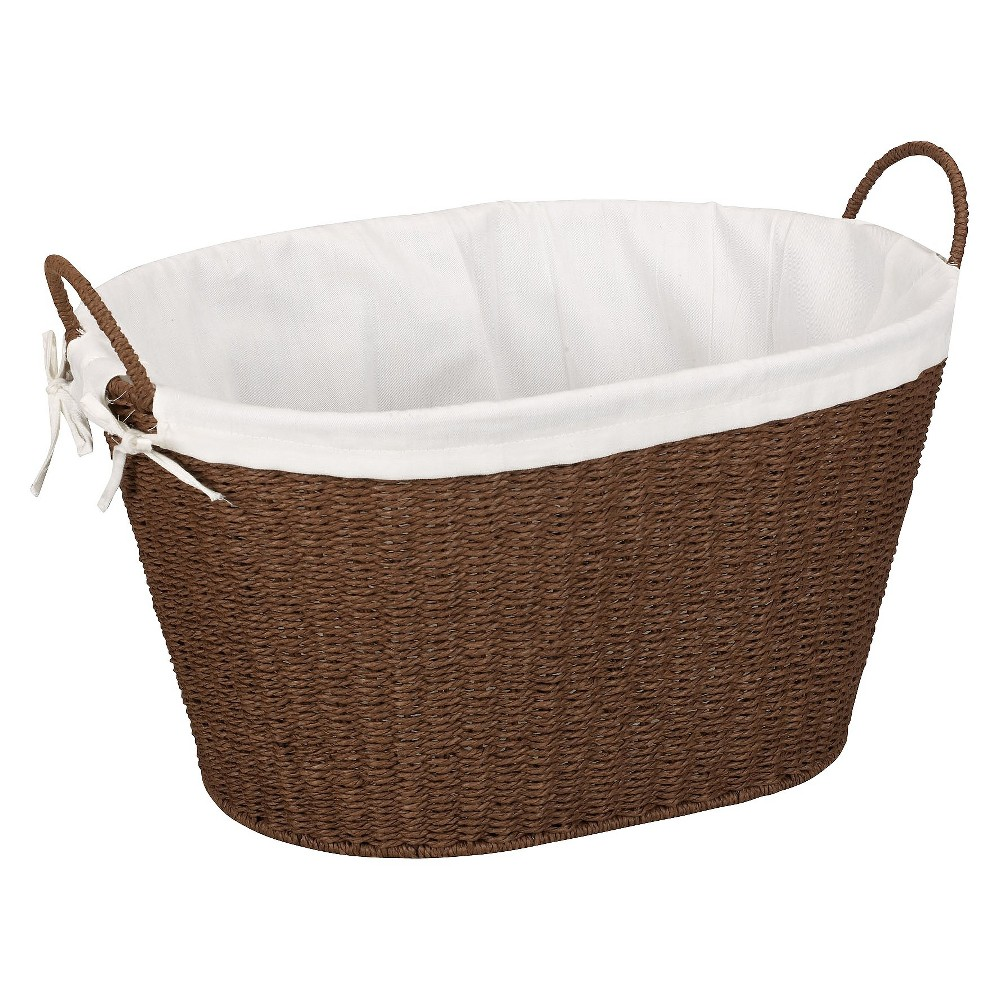 Household Essentials Stained Paper Rope Lined Laundry Basket Top