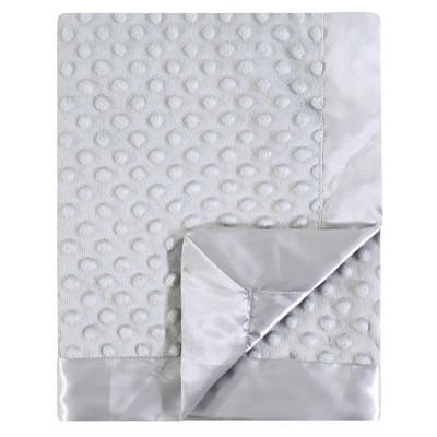 Hudson Baby Unisex Baby Plush Mink Blanket - Gray One Size