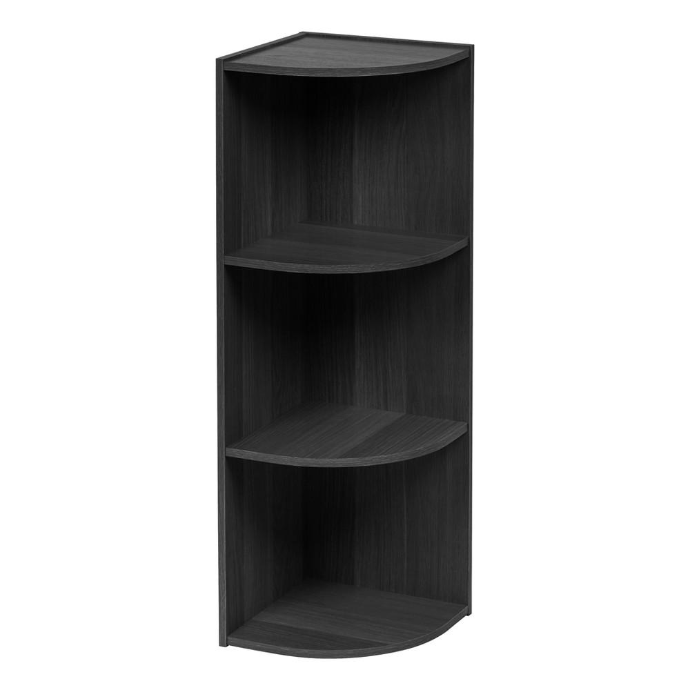 Image of IRIS 3 Tier Corner Storage Shelf - Black