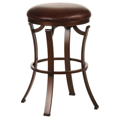 "Kelford Backless 26"" Counter Height Barstool Metal/Antique Bronze - Hillsdale Furniture"